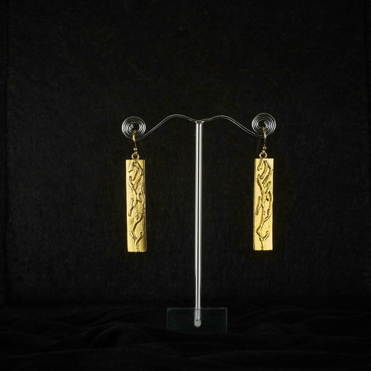 Pendientes de diseño modelo Outono, Joyería de diseño en plata. Joyas Siliva.
