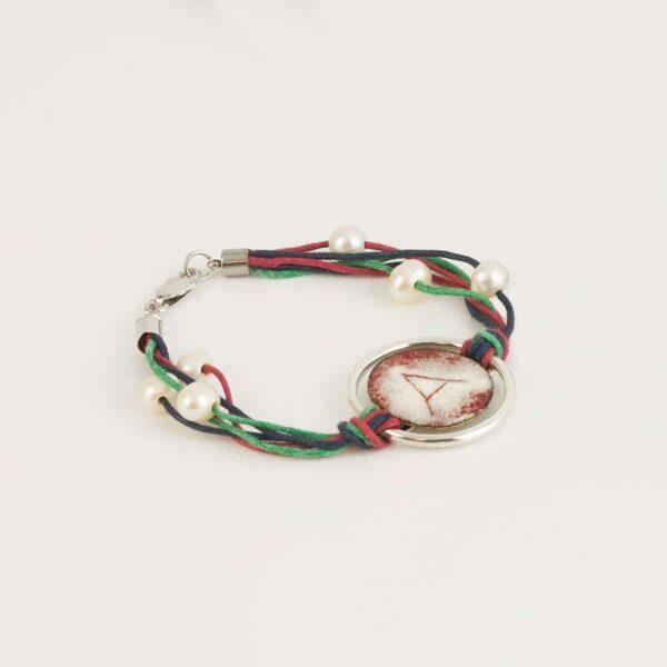 Joyas personalizadas. Pulsera de diseño en plata personalizada y esmalte al fuego modelo Ledicia, Joyas Siliva.