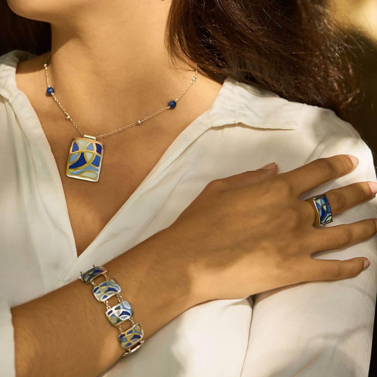 Diseño modelo Celdas, joyería de plata. Joyas Siliva