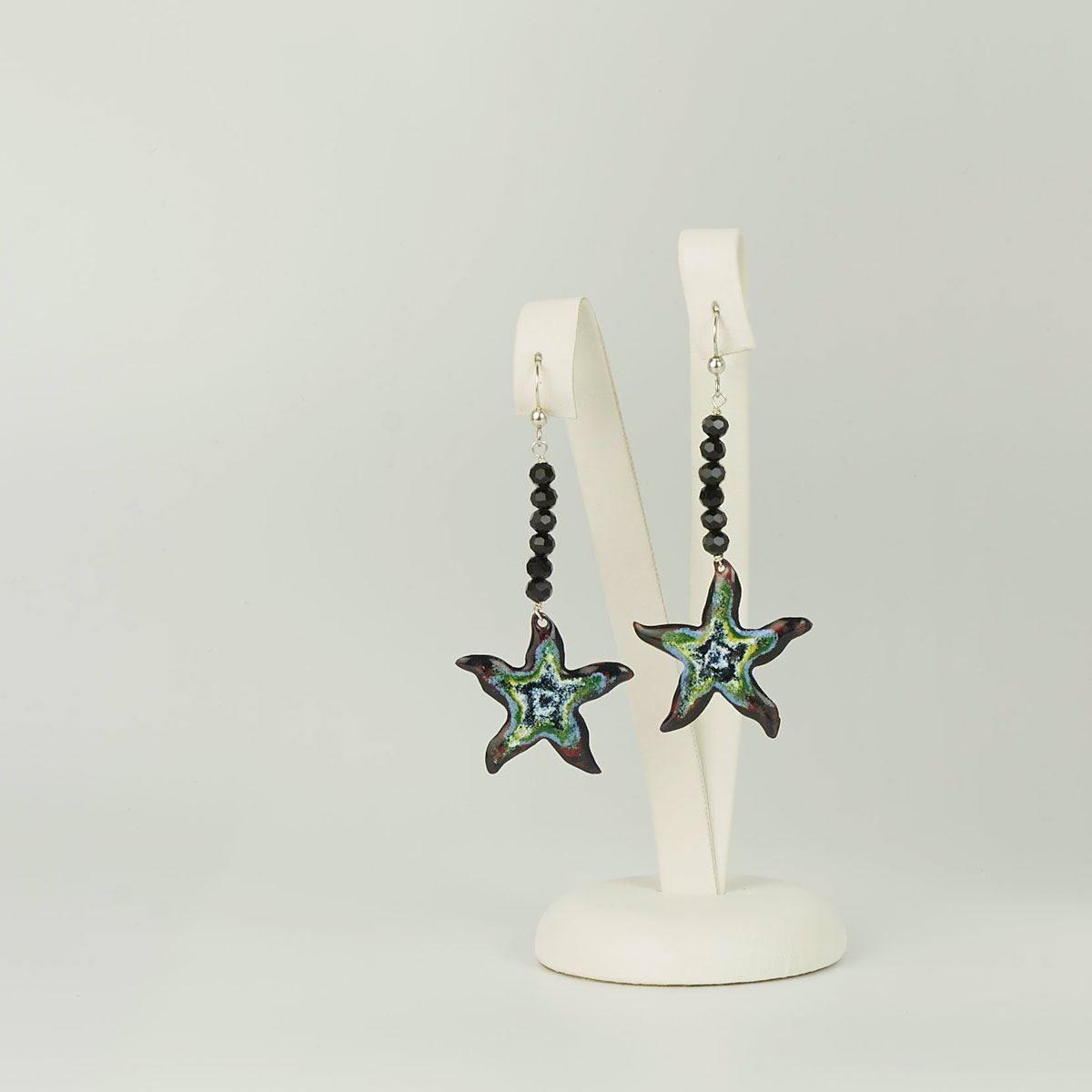 Pendientes de diseño modelo Estrela. Joyería de diseño en plata. Joyas Siliva.