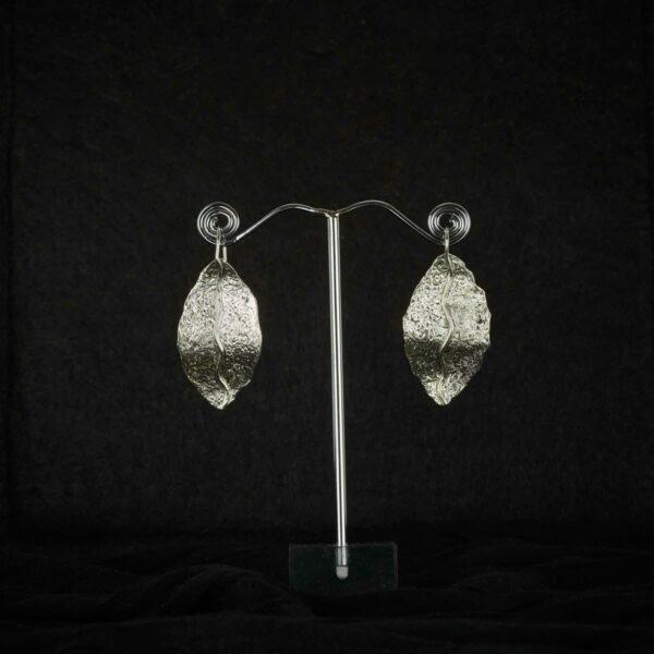 Pendientes de diseño modelo Narura1, Joyería de diseño en plata. Joyas Siliva.