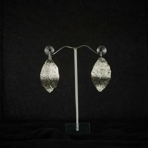 Pendientes de plata modelo Narura1, Joyería de diseño en plata. Joyas Siliva.