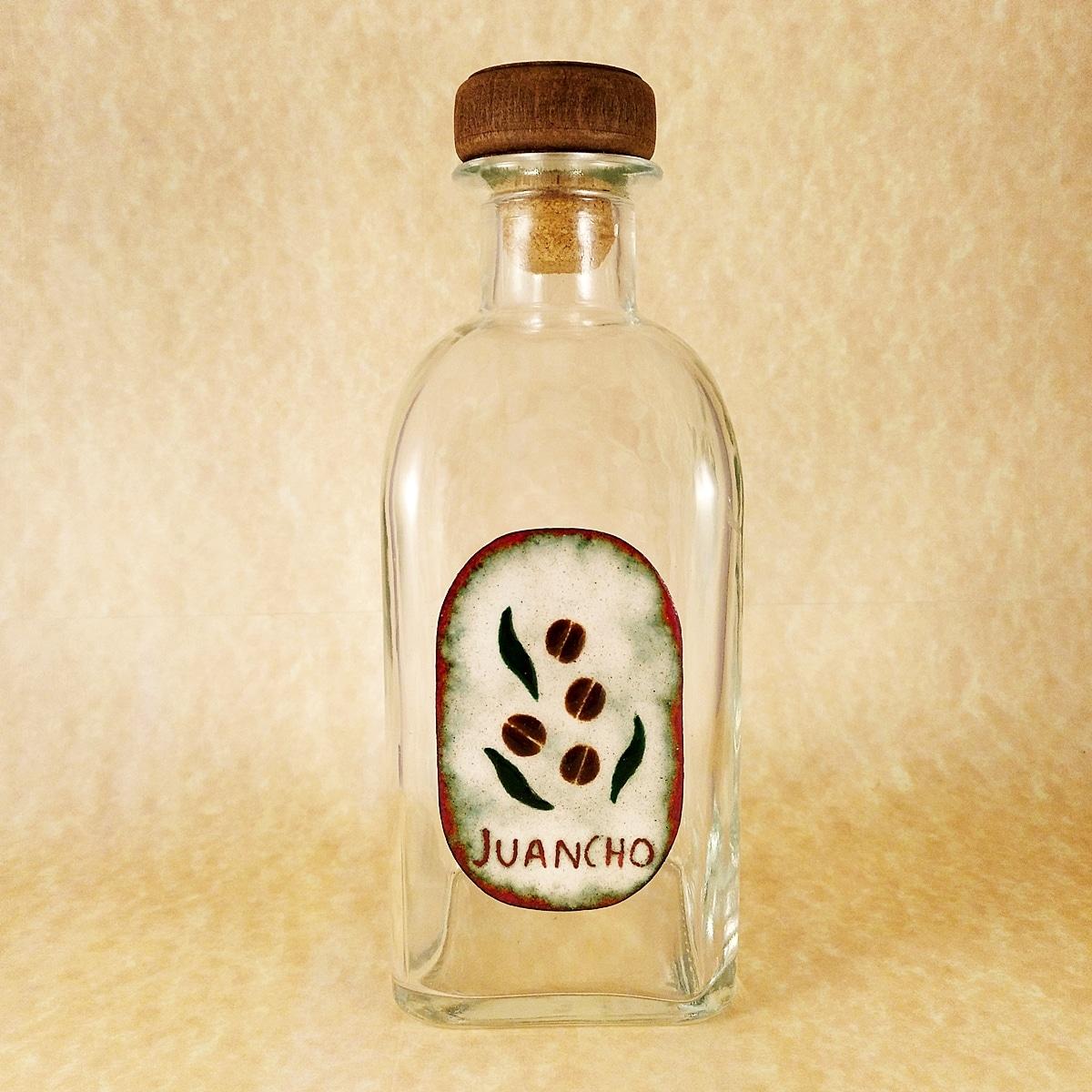 Botellas personalizadas con nombre. Esmalte al fuego. Joyas Silivaa.