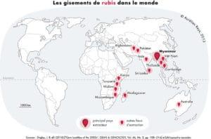 Principales países productores de Rubí
